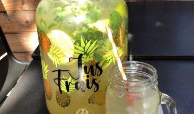 limonade maison sans sucre, bar à salades, Villeurbannz