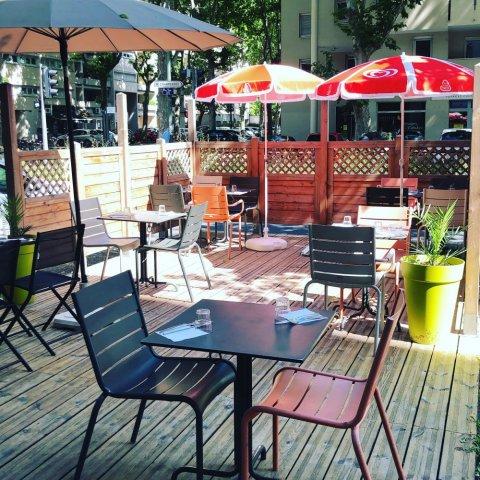 terrasse, bar à salades, villeurbanne