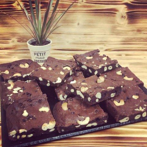 brownie chocolat et noix de cajou