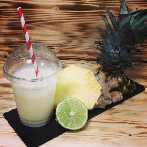 smoothie, ananas, lait de coco, citron vet, gingembre