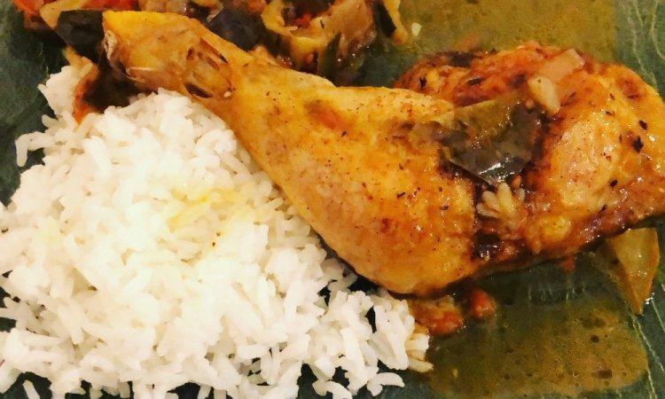 plat chaud, poulet, ratatouille, riz, bar à salades, villeurbanne