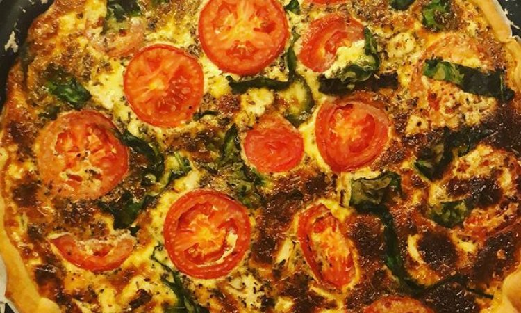 Quiche Poulet, Tomates, Epinards et Herbes de Provence, Bar à salade, Le petit Ours Gourmand, Villeurbanne