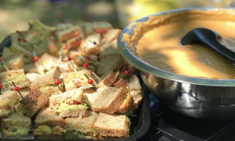 Gaspacho, mini sandwich, bar à salades, Villeurbanne